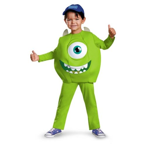 Disney Pixar Monsters University Mike Toddler Deluxe Costume, Small/2T - Mike Wazowski Baby Halloween Costume