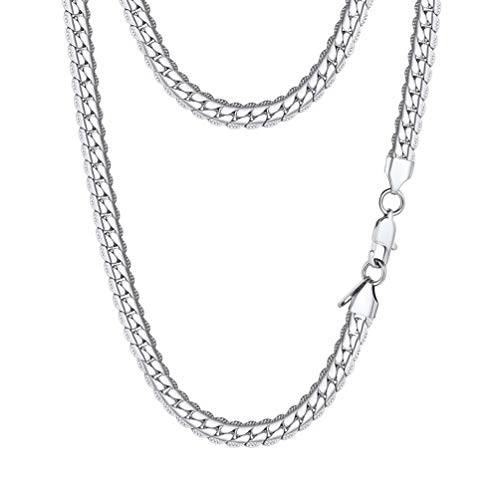 Steel Snake - PROSTEEL Stainless Steel Snake Chain Necklace Vintage Cuban Link Women Men Chain Jewelry Gift