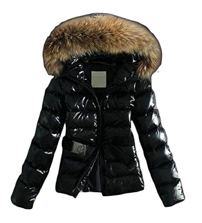 In Jaycargogo Down Cappuccio Jacket Pelliccia Donna Sintetica Con Parka Invernale Piumino qHCwE0W