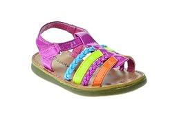 NY 36A Baby Girls Multi Colored Braided Gladiator Sandals Fushia 8