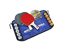 The JOOLA Family Table Tennis Set is an all-in-one kit with everything you need to get your table tennis game started! The set comes with four JOOLA Spirit Rackets and five white and five orange 40-millimeter, 1-star JOOLA ping pong balls. Th...
