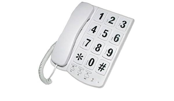 44580 Lectrolite Jumbo Button Phone White