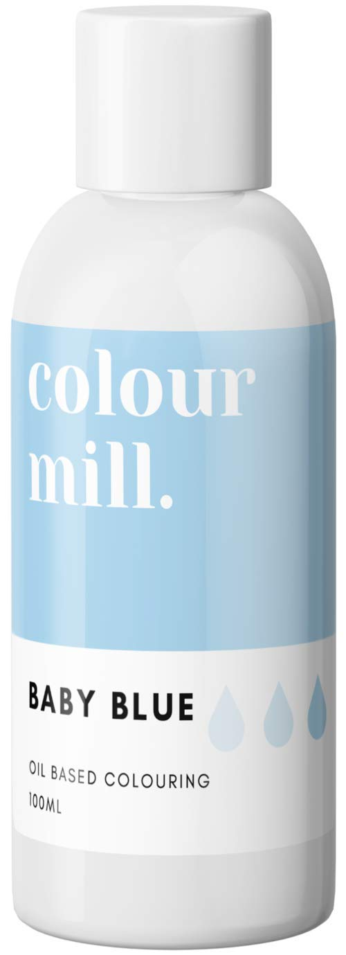 Colour Mill Oil-Based Food Coloring, 100 Milliliters Baby Blue