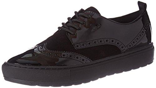 B Marron Geox Femme Sneakers Breeda Basses Black D Noir 1xxYZnRO