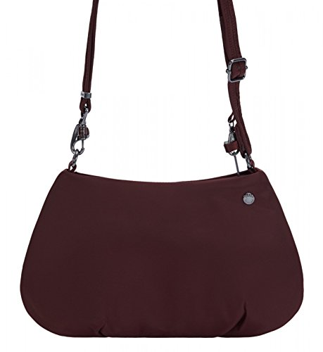 - PacSafe Citysafe CX anti-theft crossbody Messenger Bag, 30 cm, 3 liters, Blue (Merlot 319)