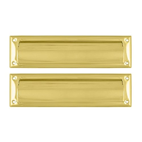 Deltana MS212CR003 13 1/8-Inch Mail Slot with Solid Brass Interior Flap