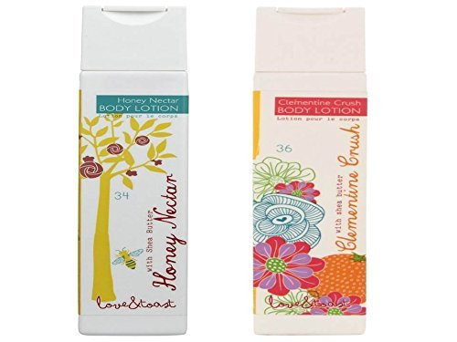 Honey Nectar Body Lotion and Clementine Crush Body Lotion, 6.7 Ounces Each, 2 Pack