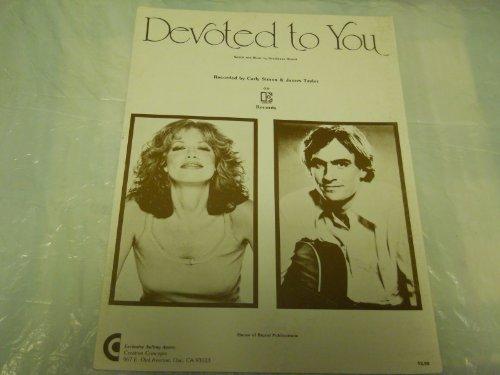 DEVOTED TO YOU CARLY SIMON JAMES TAYLOR SHEET MUSIC FOLDER - Taylor Vintage Music Sheet