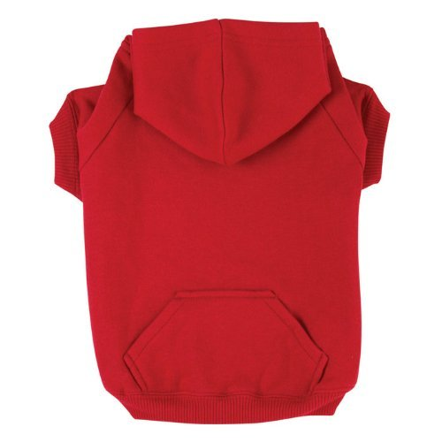 Fashion shop Pet Coat Polyester/Cotton Basic Dog Hoodie,Dog Jacket,Dog fleece for young dog and Large dog,6 sizes avaiable and 4 Color for choose . (Red, XL (Back (Basic Dog Hoodie Sweatshirt)