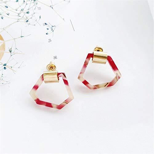 - ESCYQ Women Earring Studs Earring Drop Earrings Ear Line Red Earrings Fashion Simple Ideas Irregular Geometrical Personality Foundation Stud Earrings Earrings