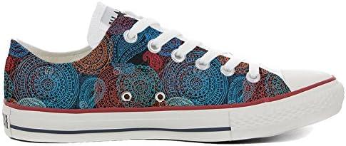 MYS Original USA Slim Personalisierte Schuhe (Custom Produkt) Back Groud Paisley