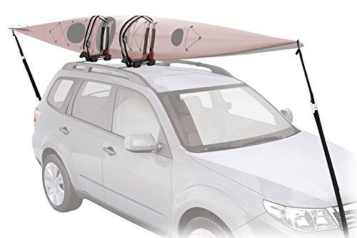 Yakima JayLow Folding J-Cradle Rooftop Kayak Rack with Tie-Downs