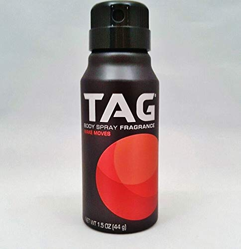 Tag Body Spray 1.5oz make Moves Unique Scent Made in the USA TSA Approved (pack of ()