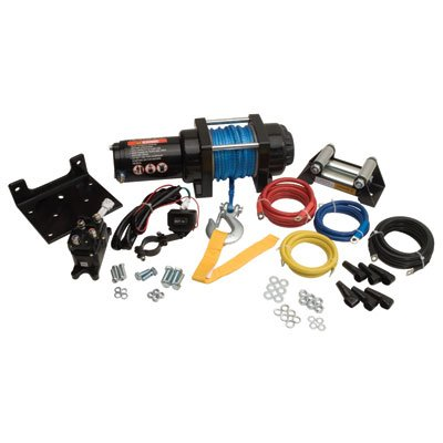 (Tusk 3500 lb Winch Kit with Mount Plate and Bump Stop - SUZUKI KING QUAD 450 500 700 750 2005-2018)