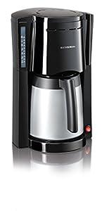 Severin – 9485 – Cafetière isotherme – 800W – 2 verseuses isothermes de 1l. – noir / argent