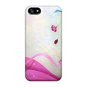For Iphone 5/5s Tpu Phone Case Cover(pink Girl)