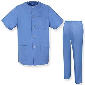 MISEMIYA Casaca Y Pantalón Mujer Uniforme Laboral Clinica Hospital Limpieza Veterinaria Sanidad Hosterería Camisa de utilidades de Trabajo 7
