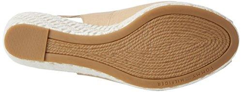Brown Sand Heels E1285lba Hilfiger Women''s Sandals Tommy Wedge desert 932 39d O0fxwq