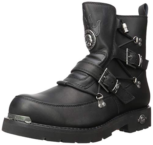 Boot Mens Motorcycle Boots - Harley-Davidson Men's Distortion Motorcycle Boot, Black, 14.0 M US