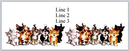 150 Personalized Return Address Labels Cute Cartoon Cats (bo 668)