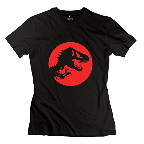 Women's Jurassic World Rex Paddock 100% Cotton Tshirt Black