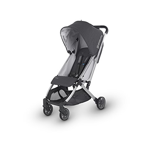 Image of the UPPAbaby MINU Stroller, Jordan, Charcoal Melange/Silver/Black Leather