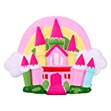 VEMOW 16cm Jumbo Fairytale Castle Scented Squishy Charm Slow Rising Stress Reliever Squeeze Toys Kids' Furniture Décor Storage Soft Educational Baby Toddler Arts Crafts Father's Day Birthday Gift (Pink)