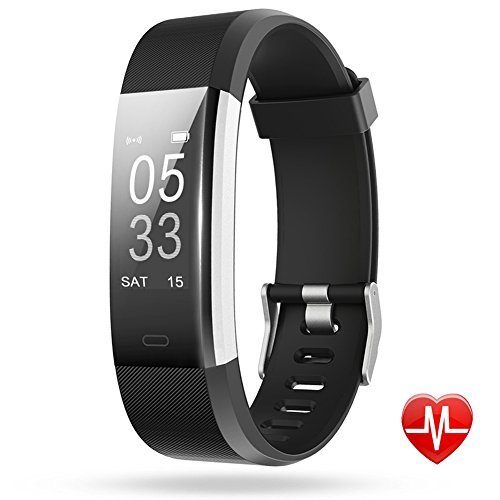 Fitness Tracker, Lintelek Heart Rate Monitor Waterproof Activity Tracker, Bluetooth Wireless Smart Bracelet GPS Connected Running Tracker for Android and iOS Smartphones