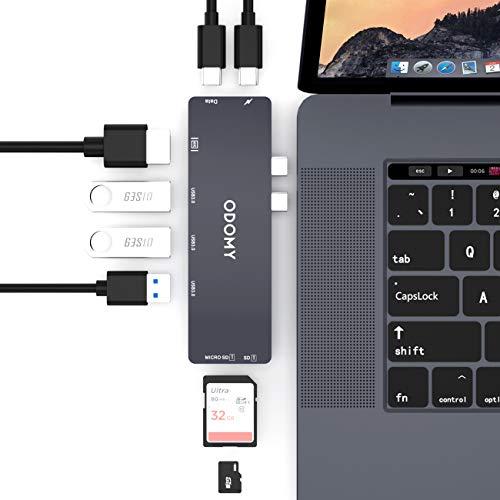 ODOMY USB C Hub 8 in 1 Type C Hub Adapter
