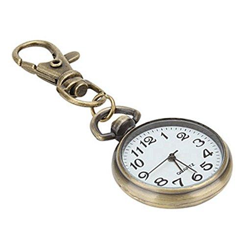Generic Unisex Alloy Analog Quartz Keychain Watch (Bronze)