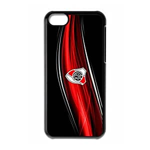 River Plate Football Club F.C,Darseneros Personalized iPhone 5C Hard Plastic Shell Case Cover White&Black(HD image)