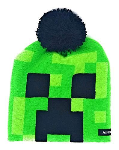 7f414a911c9 Jual Boys Minecraft Creeper Beanie Hat with Black Pom Pom -