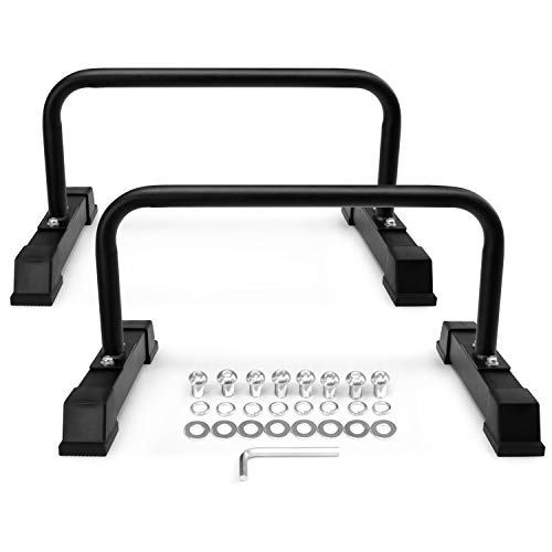 Yes4All Parallettes Push Up Non Slip Rubber