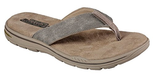 Skechers 65090 Men's Relaxed Fit: Evented- Rosen Sandal, Khaki - 11 3E US by Skechers
