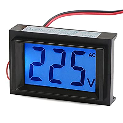 DROK® Digital AC Voltmeter Micro Portable Voltage Meter 80 to 500V Volt Tester Power Supply Monitor LCD Display Display