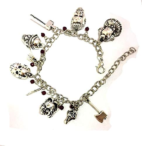 BlingSoul Chucky Child Charm Bracelet - Horror Jewelry Movie Merchandise Gifts Collection for Women