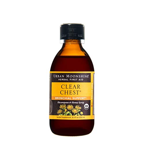 - Clear Chest Herbal Bronchial Support Syrup with Organic Herbs + Raw Honey -- 8.4 fl oz by Urban Moonshine