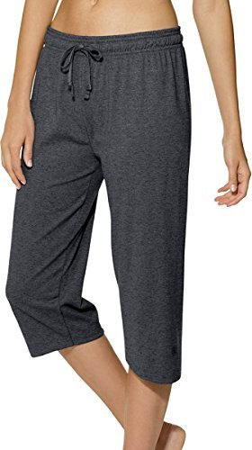 Champion Womens Pants - Champion Authentic Women's Jersey Capri_Granite Heather_Large