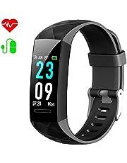 HETP Fitness Armband mit Blutdruck, Fitness Tracker Uhr Pulsmesser Wasserdicht IP67 Blutdruckmesser Schrittzähler Uhr Stoppuhr Sport GPS Aktivitätstracker Schlafmonitor für Kinder Damen Männer