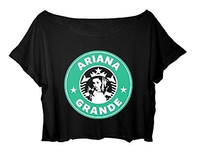 ASA Women's Crop Top Ariana Grande T-Shirt Mermaid Princess Ariana Grande Tee Shirt