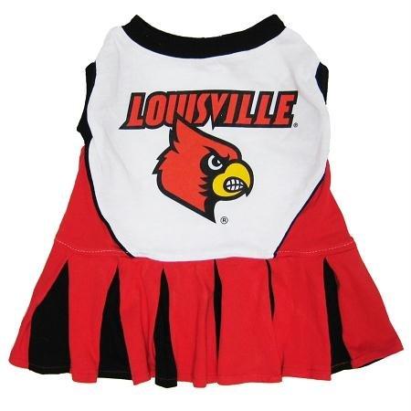 Pets First Collegiate Louisville University Dog Cheerleader Outfit, Medium