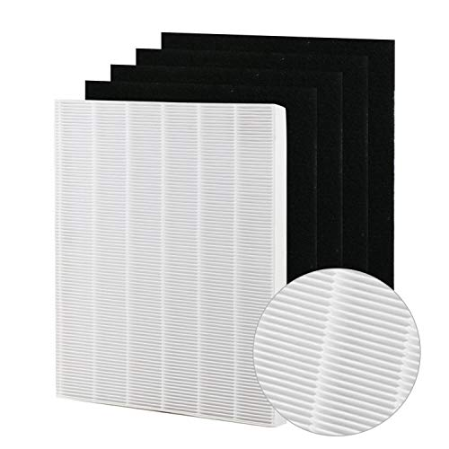 Tingkam Air Purifier Filters Compatible with Winix. Filter A. Compare to Part # 115115, True HEPA Filter (1 HEPA & 4 Pre-Filters)