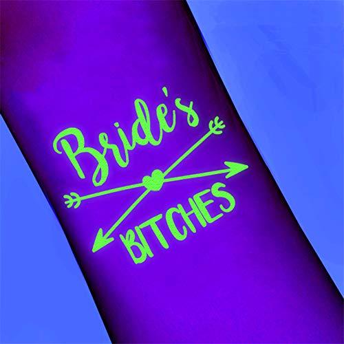 Bachelorette Party Decorations - Bachelorette Party Decor - 5Pcs/lot Tattoo Stickers Bride Team To Be Bachelorette Pary Bridal Shower Wedding Party Decoration Bride Hen Party Accessories.]()