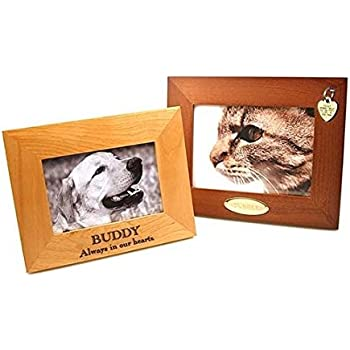 personalized picture frame custom engraved wood frame 5x7 available in natural alder or - Engraved Photo Frame