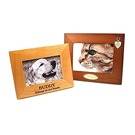 personalized picture frame custom engraved wood frame 5x7 available in natural alder or - Engraved Frame