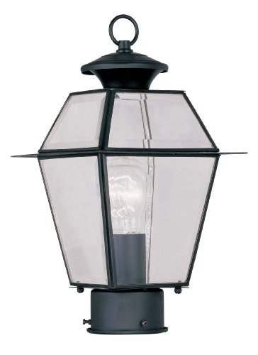 - Livex Lighting 2182-04 Westover 1-Light Outdoor Post Head, Black