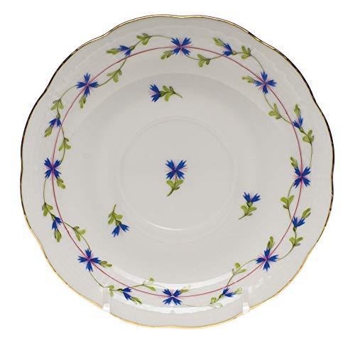 - Herend Blue Garland Porcelain Tea Saucer