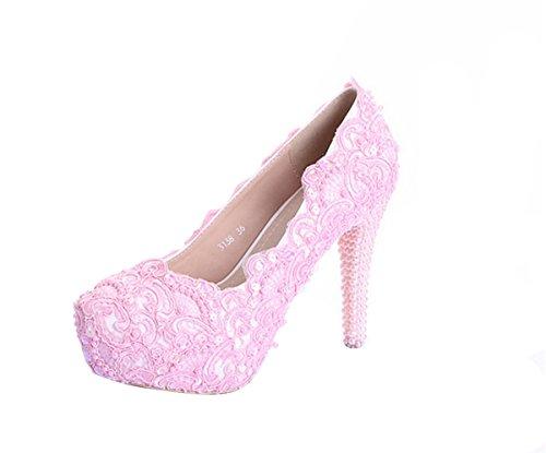 Miyoopark ,  Damen Plateau , Pink - Pink-12cm Heel - Größe: 35.5