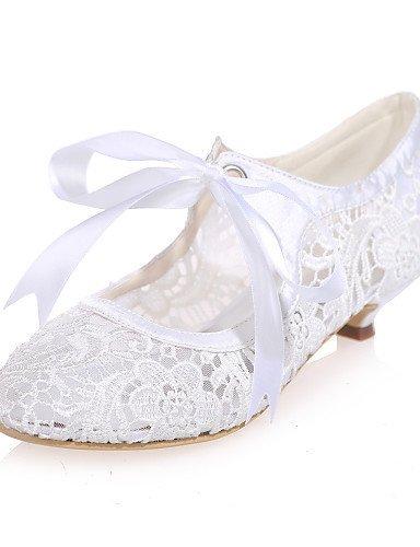 ShangYi Schuh Damen - Hochzeitsschuhe - Rundeschuh - High Heels - Hochzeit / Party & Festivität - Schwarz / Rosa / Elfenbein / Weiß , 1in-1 3/4in-black