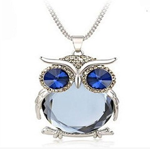 JIAMIN Car Charms for Rear View Mirror Cat's Eye Stone Belly Blue Crystal Eyes (Gray)
